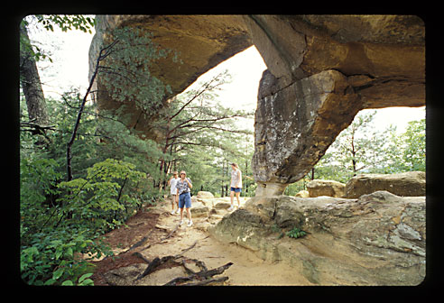 One side of the natural bridge.