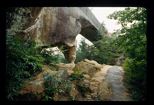 The other side of the natural bridge.